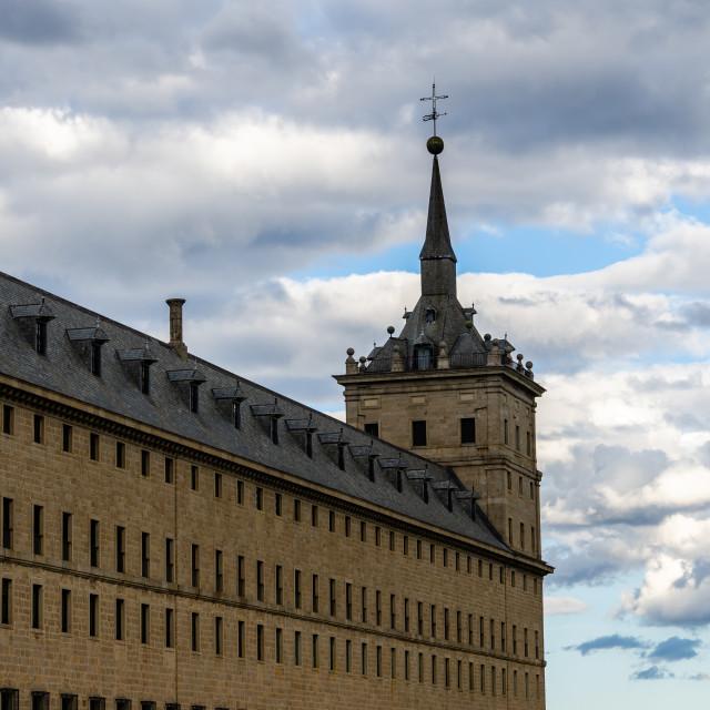"""""""Royal Site of San Lorenzo de El Escorial or Monasterio del Escorial"""" stock image"""