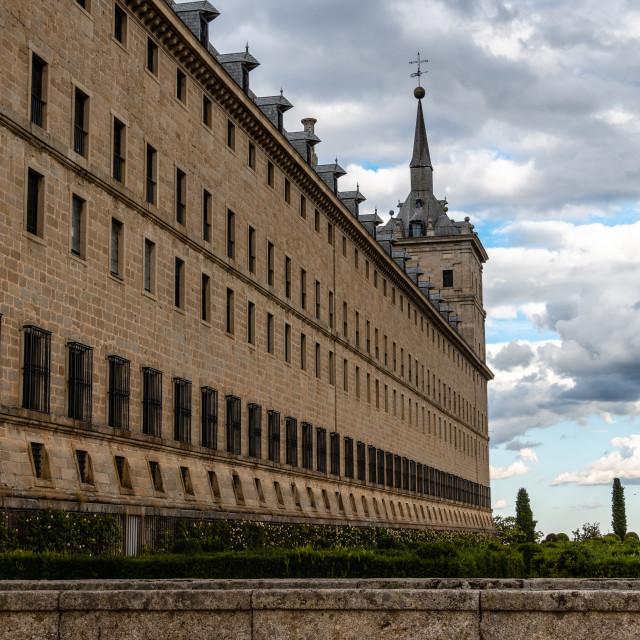 """""""Royal Site of San Lorenzo de El Escorial"""" stock image"""