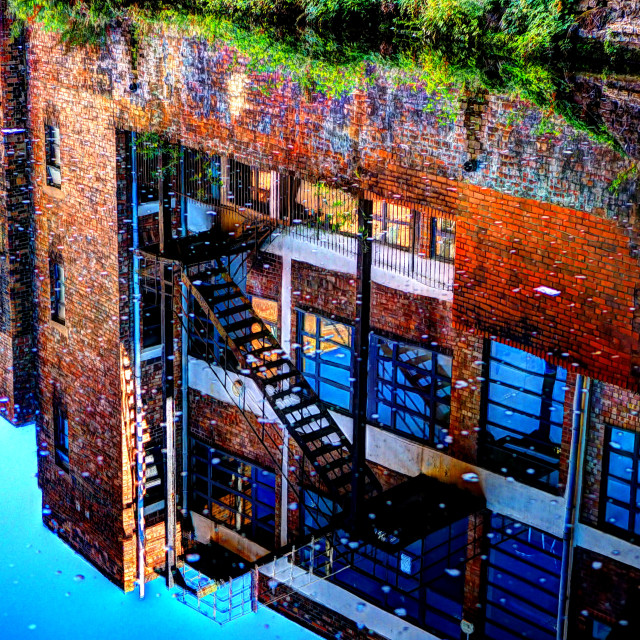 """""""Canal Reflections"""" stock image"""