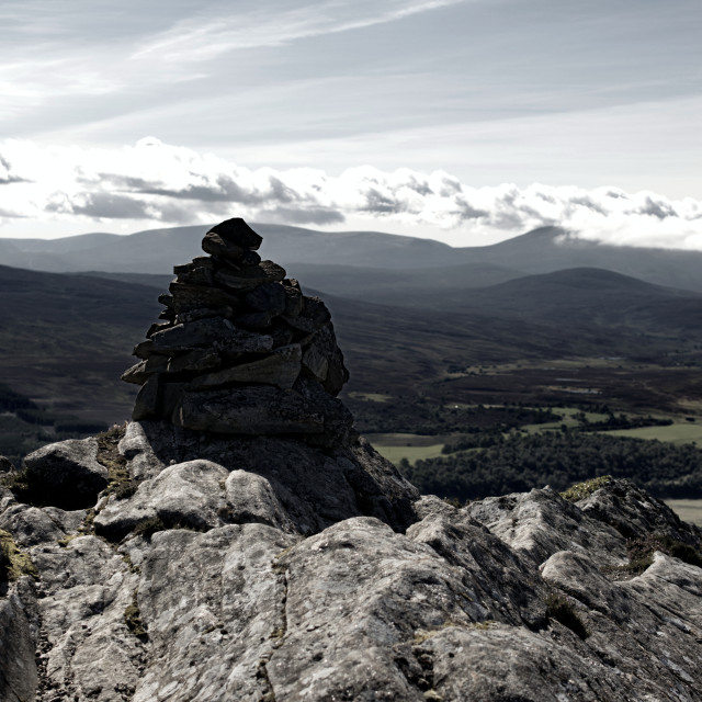 """""""Giant Stone Cairn"""" stock image"""