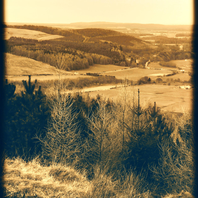 """""""Speyside Way Viewpoint"""" stock image"""