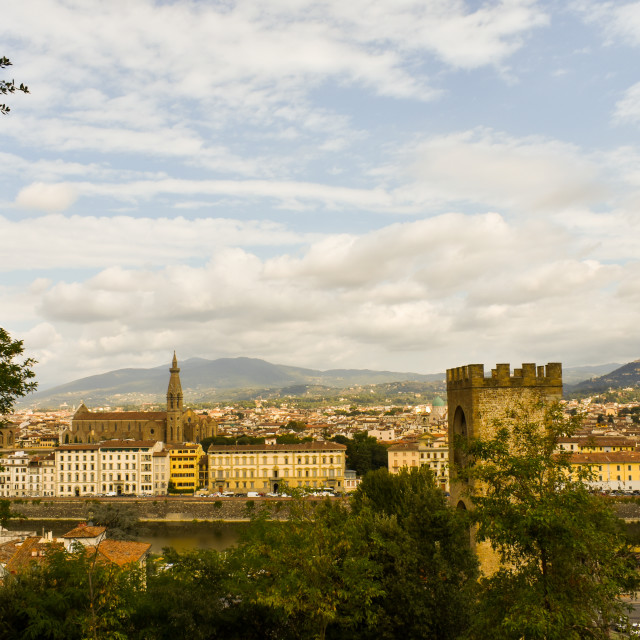"""""""Hills of Florence"""" stock image"""