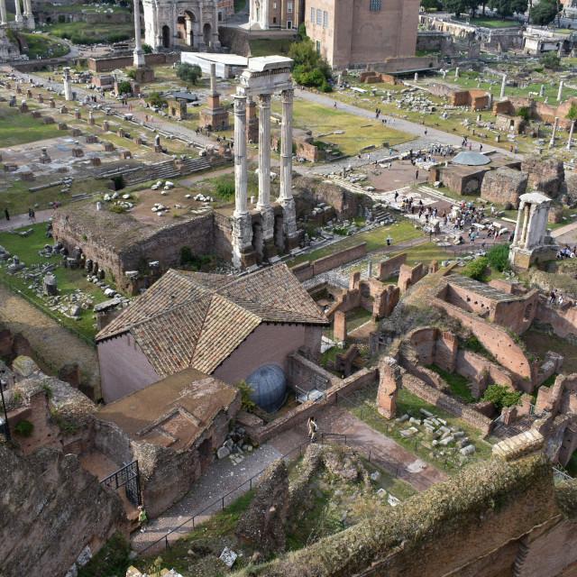 """In Roman Ruins"" stock image"