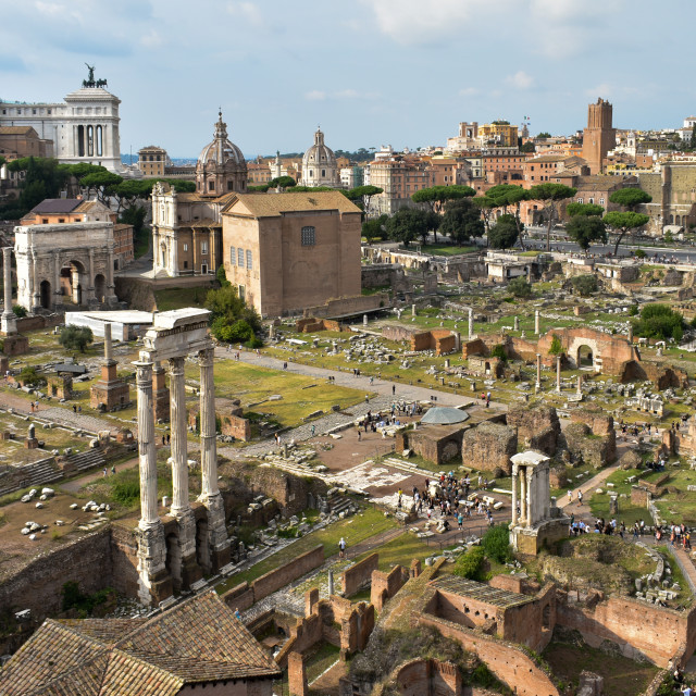 """""""Rome's Extensive Ruins"""" stock image"""