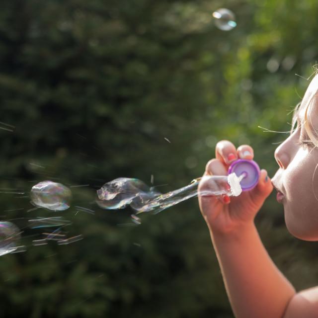 """Soap bubbles"" stock image"