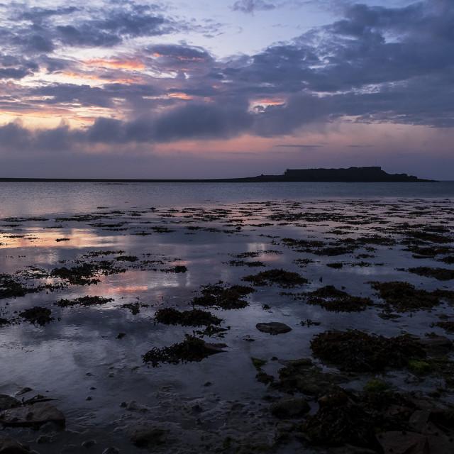 """""""Fort Ile de Raz in the morning light"""" stock image"""