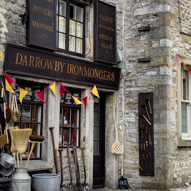 """Grassington, Ironmonger Shop"" stock image"