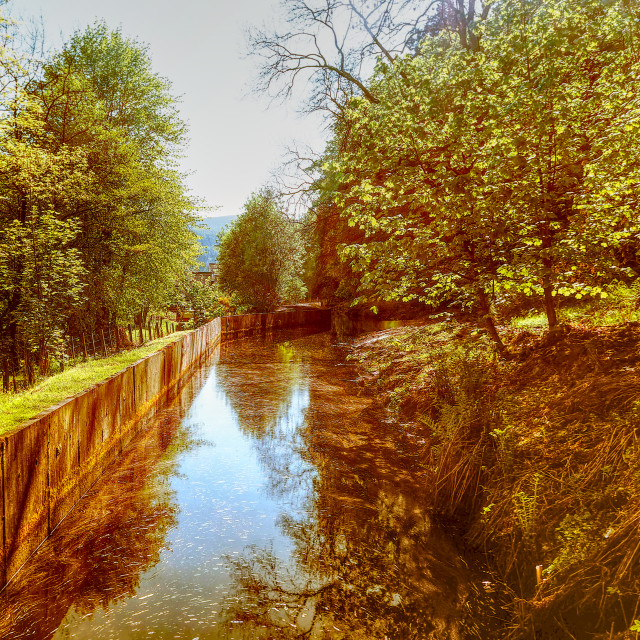"""""""The Mill Stream"""" stock image"""