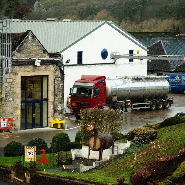 """""""A Busy Day At Glen Moray"""" stock image"""
