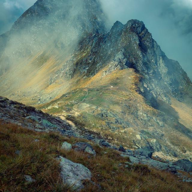 """""""Peaks of Făgăraș Mountains"""" stock image"""