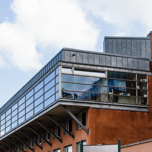 """Moderna Museum on the island of Skeppsholmen in central Stockholm"" stock image"