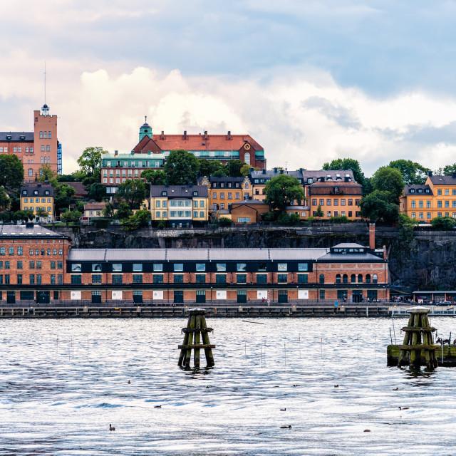 """Fotografiska Museum on Sodermalm waterfront in Stockholm"" stock image"