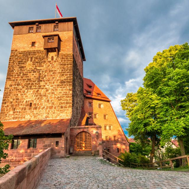 """Turm Luginsland, Nuremberg - Travel medieval landscape in Bavaria, Germany"" stock image"