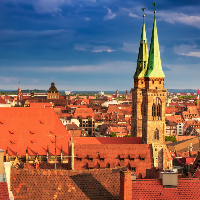 """""""Nuremberg, Germany - Picturesque sunset over oldtown, Bavaria sightseeing"""" stock image"""
