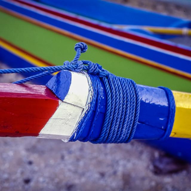 """Jukung boat detail"" stock image"