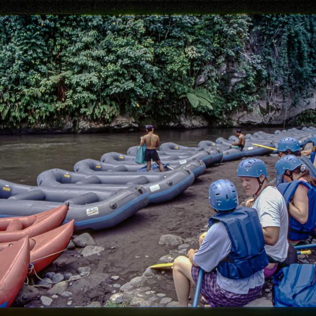 """Ayung River rafting 2"" stock image"