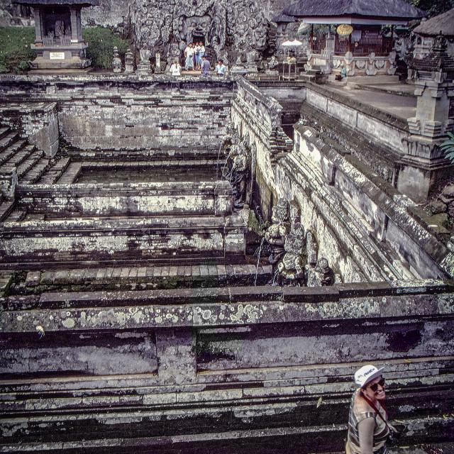 """BJ @ Goa Gajah cave & temple Pools"" stock image"