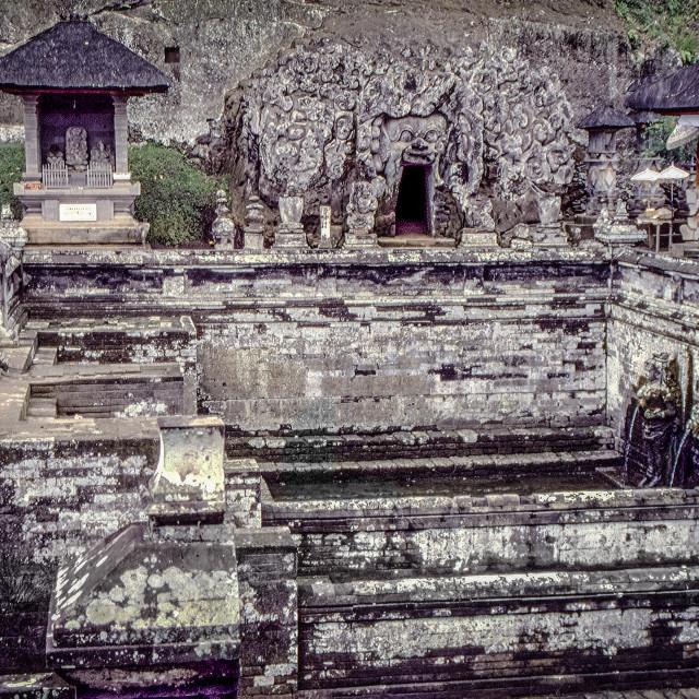 """Goa Gajah cave & temple pools"" stock image"