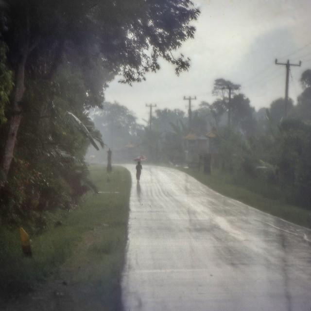"""""""Rainy Road, Bali"""" stock image"""