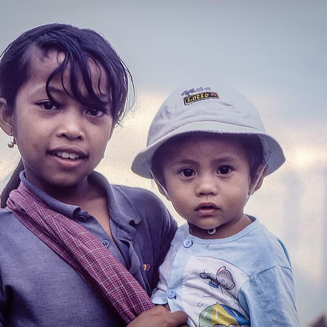 """""""Balinese girl & boy"""" stock image"""
