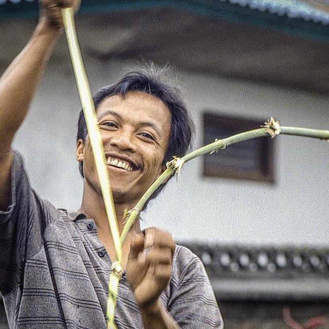 """""""Balinese man smiling"""" stock image"""