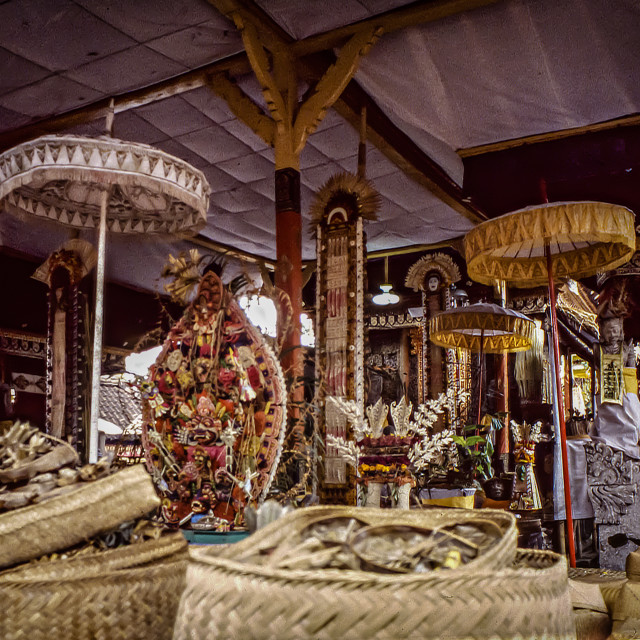 """""""Temple offerings, Bangli"""" stock image"""