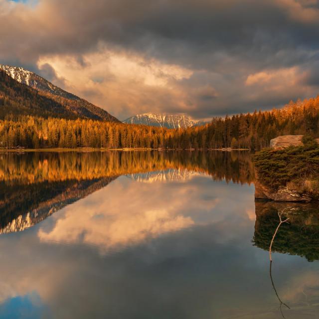"""Anterselva Lake"" stock image"