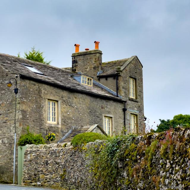 """Grassington Old House, Stone Built, Yorkshire Dales."" stock image"