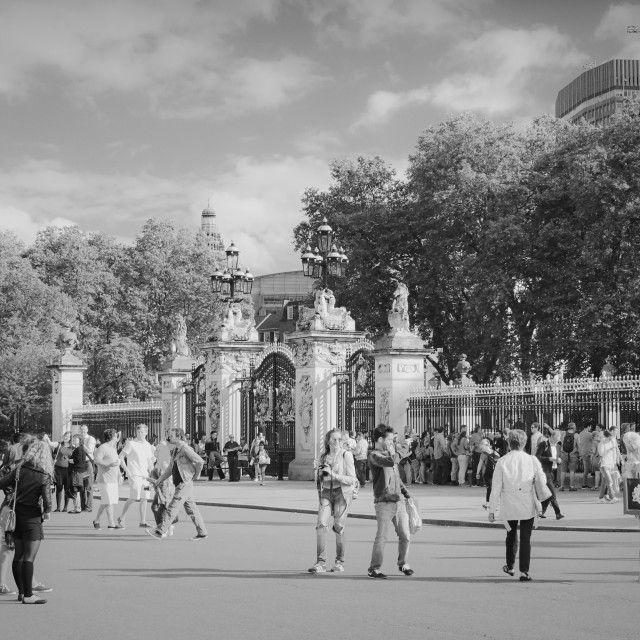 """""""Visitors To The Palace"""" stock image"""