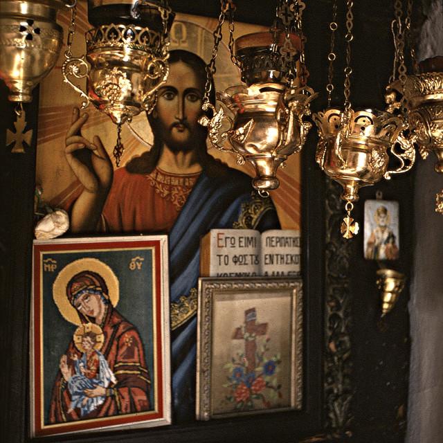"""Greek Orthodox icons"" stock image"