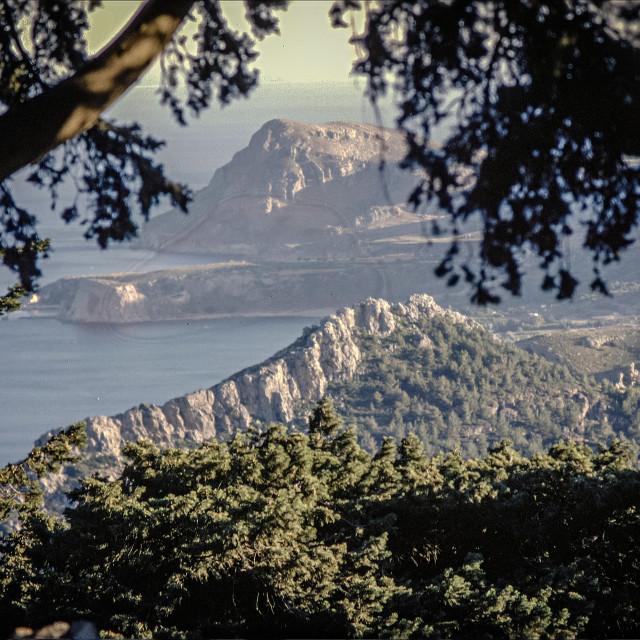 """""""Rodos (Rhodes) coast"""" stock image"""