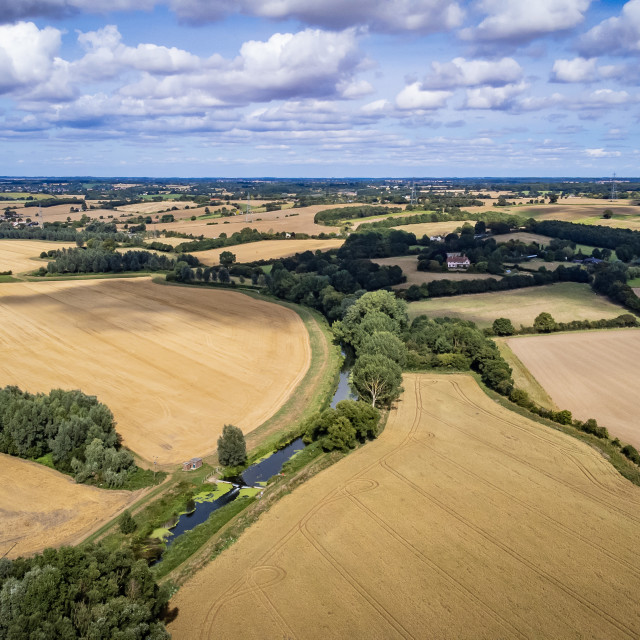 """""""Golden fields of Essex and Suffolk"""" stock image"""