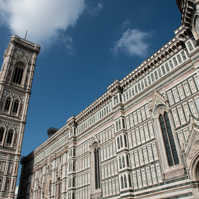 """""""Architectural details of Cathedral of Santa Maria del Fiore Cathedral of Florence. Italy Europe"""" stock image"""