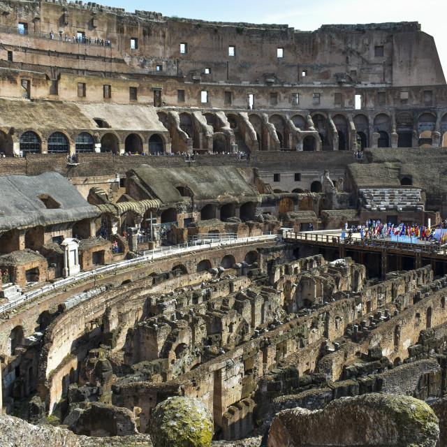"""Inside Rome's Colloseum"" stock image"