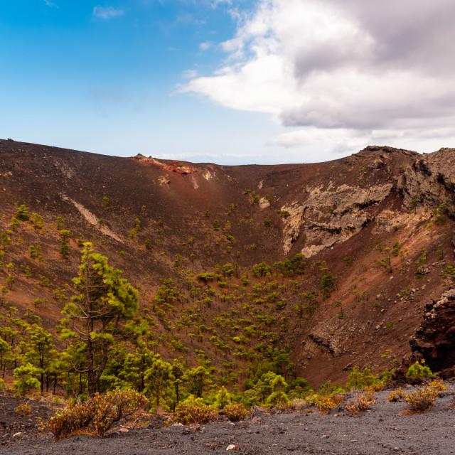 """""""Volcanic crater. San Antonio volcano in Fuencaliente, La Palma"""" stock image"""