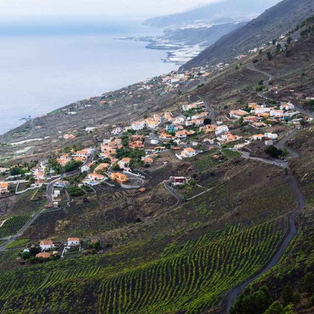 """Volcanic landscape in Fuencaliente, La Palma, Canary Islands"" stock image"