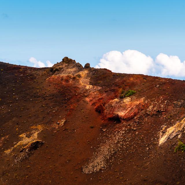 """San Antonio Volcano crater in the Island of La Palma"" stock image"