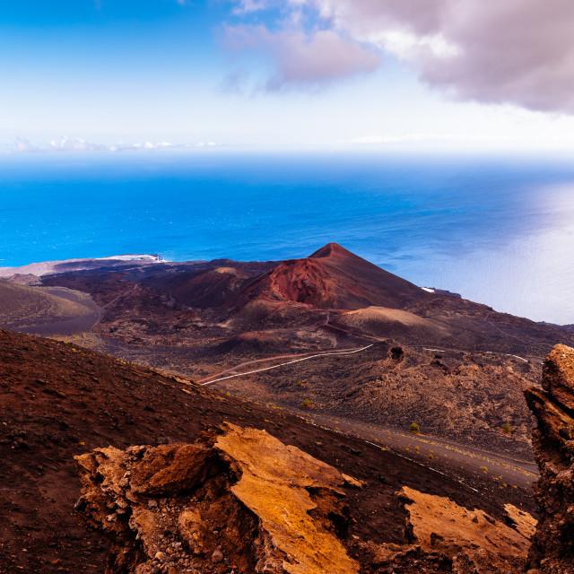 """Teneguia Volcano in Fuencaliente, Island of La Palma"" stock image"