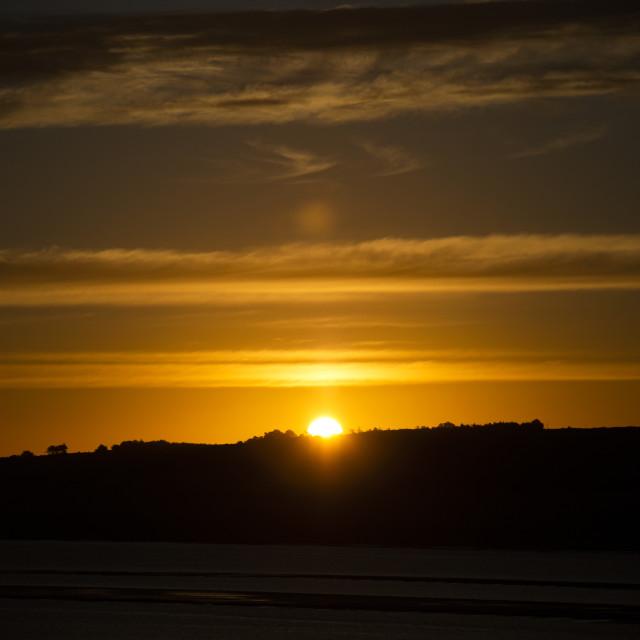 """""""Sunrise from Ardullie, Scottish Highlands"""" stock image"""