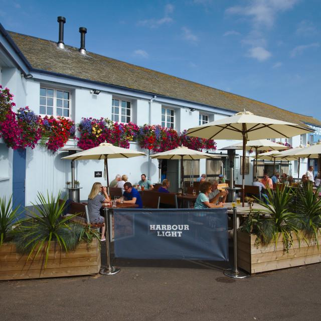 """""""Harbour Light pub, Paignton harbour, Devon UK"""" stock image"""