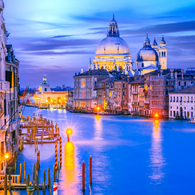 """""""Venice, Italy - Sunset on Grand Canal"""" stock image"""