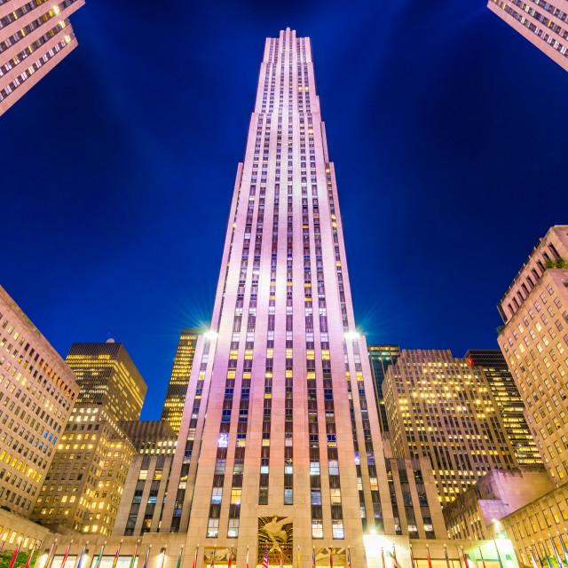 """New York City, USA - Rockefeller Skyscraper in Manhattan"" stock image"