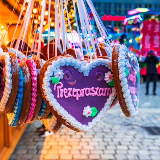 """""""Wroclaw, Poland - Traditional gingerbread on Christmas Market"""" stock image"""