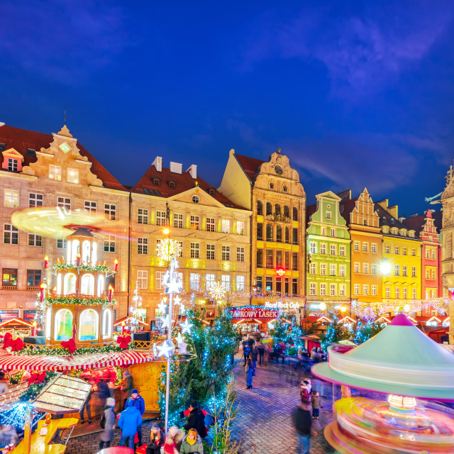 """""""Wroclaw, Breselau in Poland - Christmas Market"""" stock image"""