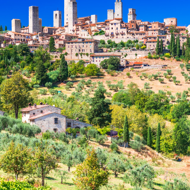 """""""San Gimignano, Italy. Famous medieval town in Tuscany."""" stock image"""