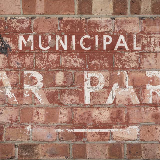 """""""Municipal car park"""" stock image"""
