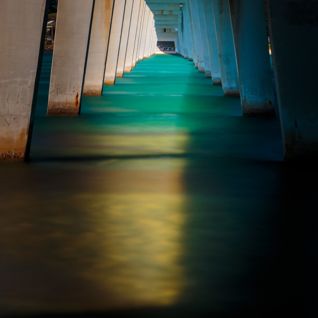"""""""The Bridge of Light and Shadow"""" stock image"""