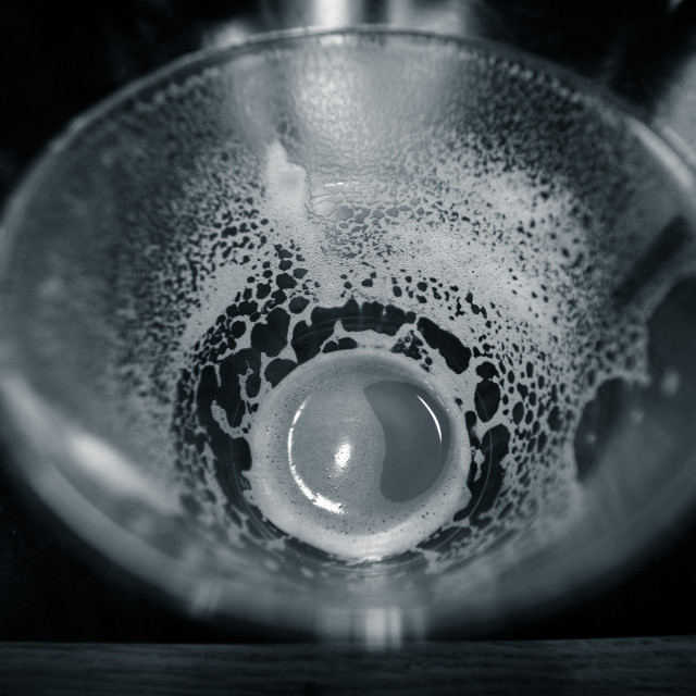 """""""The Empty Glass"""" stock image"""
