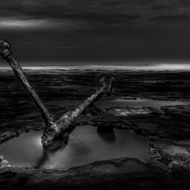 """""""Anchor from the 'Marie Gabrielle'"""" stock image"""