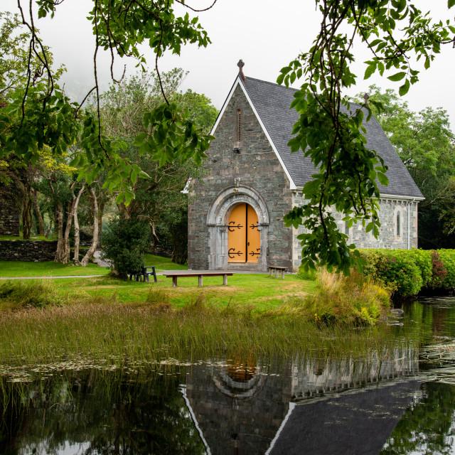 """""""Catholic church of Saint. Finbarr Oratory. Gougane Barra park west ireland"""" stock image"""